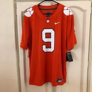 Mens Nike Clemson Tigers #9 Orange Football Jersey